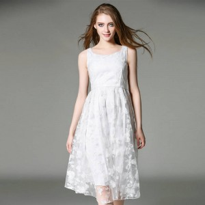 New White Lace Evening Gowns Prom Dress Party Formal Dress Bridal Marraige Dress Elegant Finish For Women Thumbnail