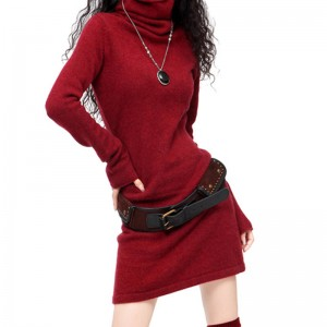 New Winter Cashmere Wool Blending Sweater Collar Hedging Latest For Women Thumbnail
