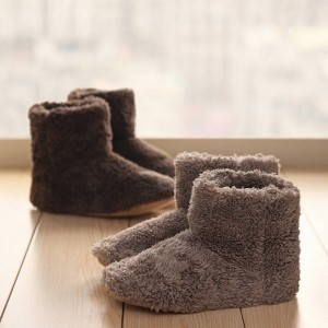 New Winter Cotton Padded Skid Soft Warm Slippers Indoor Home Wear For Women Thumbnail