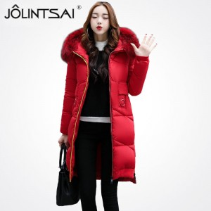 New Winter Jacket Women Parkas Colorful Zipper Alphabet Fashion Large Fur Collar Female Winter Women Coat