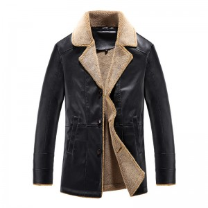 New Winter Jackets Men Casual Slim Fit PU Windbreak Thick Overcoat Leather Jacket Male Fashion Brand Clothing Plus