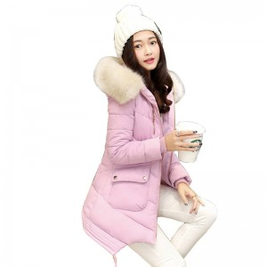 New Winter Long Coat Parka Jackets For Women Thick Warm Fur Collar High Quality Jackets Thumbnail