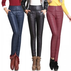 New Winter Pants High Waist Slim Warm Windproof Velvet Thick Warm Trousers Women Thumbnail