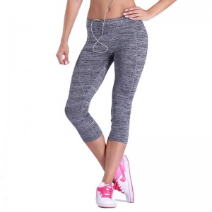 New Women Capri Leggings Fitness Stretched Cropped Seamless Workout Pants For Women Thumbnail