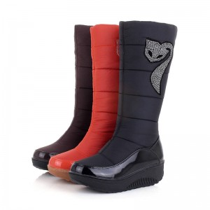 New Women Down Cotton Waterproof Winter Boots Snow Boots Fur Knee High Thumbnail