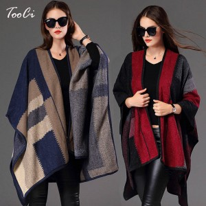 New Women Personalized Poncho For Women Knitted Shawl Scarf Poncho Sweater New Design
