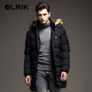Olrik Down Jacket Coat Western Style Overcoat Parka Hooded For Men Thumbnail