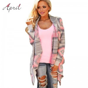 Pink Kimono Cardigan Blouse Long Sleeve Cotton Coat New Design For Women Thumbnail