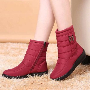 Plus size snow boots women winter plus fur keep warm non slip women boots waterproof casual women shoes