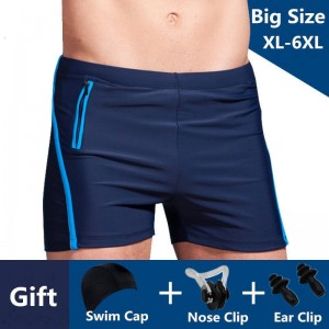 Plus Size Swimwear Men Swimming Trunks Male Swimsuit Swim Boxer Briefs Shorts For Men