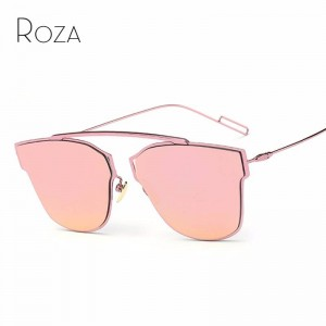 Polarized Fishing Sunglasses For Women Single Nose Design Flat Lens Metal Frame Eyewear For Ladies