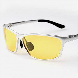 Polarized Night Vision Goggles Aluminium Magnesium Male Driving Glasses UV400 Drivers Sunglasses Shades