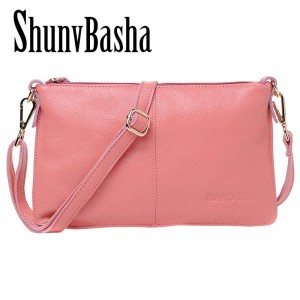 Real Leather Genuine Women Clutches Bags Messenger Bags Natural Leather Cowhide Ladies Shoulder Bags Thumbnail