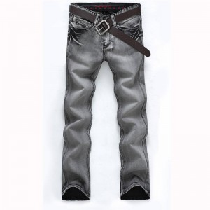 Regular Jeans Water Washed High Quality Popular Style Rough Look For Men Thumbnail