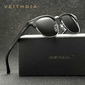 Retro Aluminium Sunglasses Polarized Vintage Veithdia UV400 Men Sunglasses Classic Designer Eyewear
