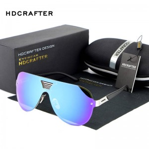 Rimless Sunglasses Oversized Polarized UV400 Modern Designer Metal Shades Colourful Unisex Shades