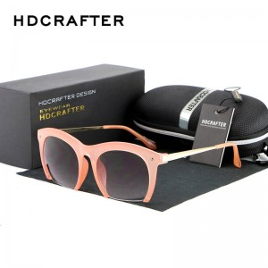 Round Polarized Sunglasses Cat Eye Half Frame Goggles Half Rim Tinted Sun Wear Metal Frame Ladies Shades