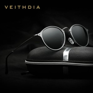 Round Polarized Sunglasses For Men Latest Designer Unisex Male Eyewear Classic UV400 Polaroid Eye Shades