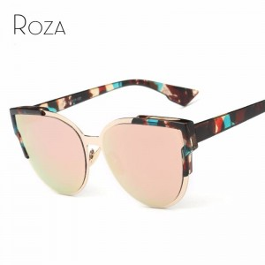 Roza Women Sunglasses Designer Half Frame UV400 Polarized Cat Eye Customizable Top Quality Eye Glasses