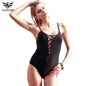 Sexy One Piece Swimsuits For Female Women Bodysuit Bathing Suits Retro Monokini Vintage Bandage Beach Wear