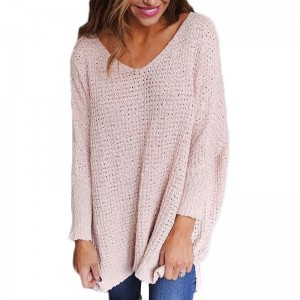 Spring Autumn Fashion Women Sweater Girl Knitted Pullover Tops Female Sexy V Neck Loose Ladies Sweaters