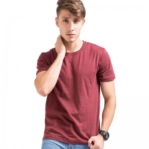 Spring Summer Mens T shirt  Fashion Top Solid Color Cotton Class Style O Neck Short Sleeves Casual T Shirt
