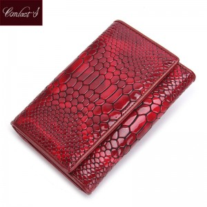 Standard Genuine Wallets For Women Leather Wallets Serpentine Purse With Key Holder For Women Thumbnail