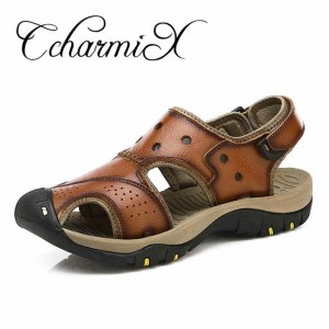 Summer Leather Sandals Men Outdoor Breathable Beach Sandals 2018 New Large Size Mens Sandals Ultralight Sandal