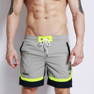 Surfing Beach Shorts Boardshorts Patchwork Nylon Bermuda Surf Swim Short Pants Quick Dry Silver Pink Swimwear Male