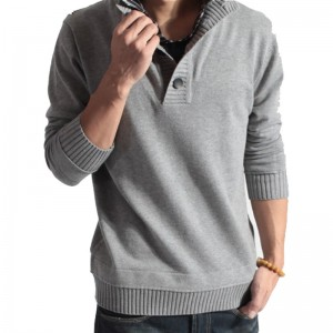 Sweater Pullover Men Male Brand Casual Slim Sweaters Men Fake Two Pieces Of Grid Solid Color Hedging Mens Sweater XXL