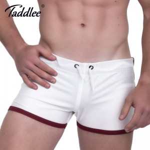 Taddlee Mens Running Sports Shorts Boxer Trunks 2018 Summer Short Pants Bottoms Men Gym Low Rise Gym Workout Shorts
