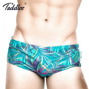 Taddlee Mens Swimwear Swimsuits Swim Boxer Briefs Bikini Swimming Surf Board Trunks Low Waist Bathing Suits XXL Size