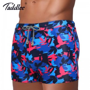 Taddlee Traditional Long Swimwear Mens Swimsuits New Designer Boxer Trunks For Males Classic Style Shorts