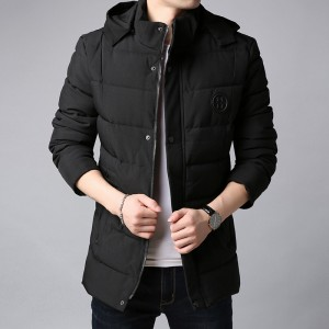 Thick New Winter Fashion Brand Jacket Men Korean Hooded Parka Streetwear Quilted Jacket Puffer Bubble Coat