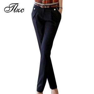 Top Quality Ladies Suit Pants Office Design Casual Straight Trousers For Women New Thumbnail