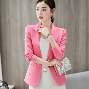 Top Quality Spring Autumn Womens Blazer Elegant Fashion Office Lady Blazers Coat Suits Female Single Button Jacket Suit