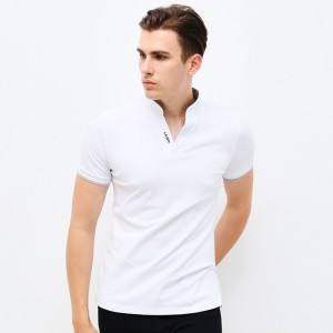 V Neck T Shirts Tees Tops For Men New Autumn Spring V Neck Short Sleeve Mens Clothings Plus Size Tees