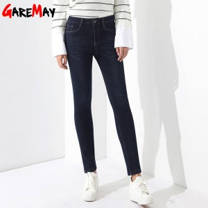 Velvet Jeans Femme Plus Size High Waist Thick Warm Jeans For Women Winter Denim Pantalon Taille Haute Femme Jeans