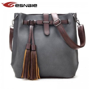 Vintage Women Bucket Bags Top Quality Leather Messenger Bags Designer Handbags For Women Thumbnail