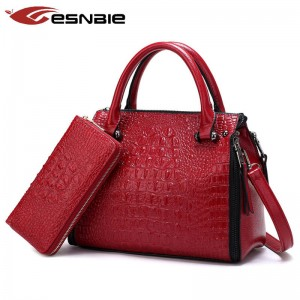 Vintage Women Handbag With Designer Wallet Purse High Quality Luxury Leather Shoulder Bags For Women Thumbnail