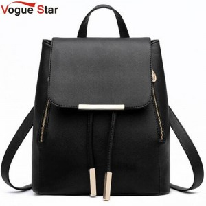 Vogue Star Fashion Women Backpacks For Teenage Girls Leather School Bags Travel Bags Women Thumbnail