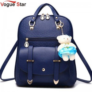 Vogue Star New Casual Girls Backpacks School Bags New Pu Leather Casual Bags Travel Bags Thumbnail