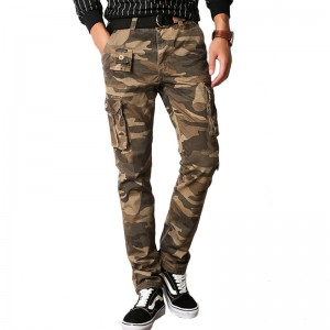 Vomint New Men Fashion Military Cargo Army Pants Slim Regular Straight Fit Cotton Multi Color Camouflage Green Yellow