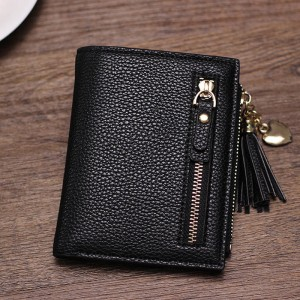 Wallet Women Fashion Short Mini Mini Wallet For Female Card Holder Coin Purse Zipper Wallet Thumbnail