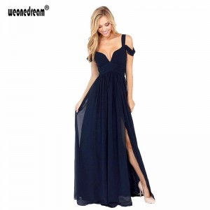 Weonedream Backless Evening Pregnant Women Sexy Long Formal Prom Dresses Bridal Occasion Split Gown For Women Thumbnail