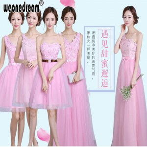 Weonedream Bridesmaid Dress Pink Purple Champagne Floor Length Chiffon Party Prom Dress Gowns For Women Thumbnail