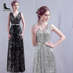 Weonedream Sequins Evening Dress Floor Length Party Dress Backless Formal Gown Elegant Long Party Dress Thumbnail