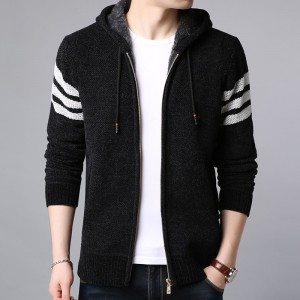 Winter Thick Velvet Fashion Jackets For Men Streetwear Trend Windbreakers Overcoat Warm Hooded Casual Coat Mens Clothes