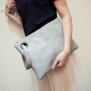 Women Bags Handbags Clutches Leather Vintage Envelope Clutch Bolsas Casual Ladies Designer Luxury Clutch Thumbnail