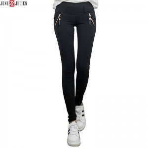 Women Black Skinny Jeans Autumn Winter Velvet Slim Pencil Jeans For Women Thumbnail